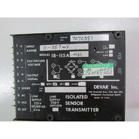 LOT OF 3 - DEVAR ISOLATED SENSOR TRANSMITTER 18-115A-M31
