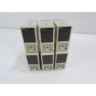 LOT OF 6 - FUJI ELECTRIC TEMPERATURE CONTROLLER PYZ5NAY2-1Y SD06885