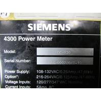 `` LOT OF 5 SIEMENS DC-120 4300 POWER METER *XLNT*