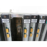 * RELIANCE ELECTRIC 0-57510-1 10- SLOT RACK CHASSIS W/ MODULES *EXLNT*