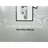 HP 7673 AUTOMATIC SAMPLER OPERATING  MANUAL
