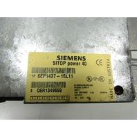 SIEMENS 6EP1437-1SL11 SITOP POWER 4