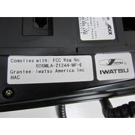 LOT OF (6) IWATSU IX-MKT (BLK) OMEGA PHONE ADIX 8-BUTTON MULTI-LINE