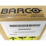 BARCO PROJECTOR LAMP R9849900 400W MH 6400 SERIES/2 SIM6