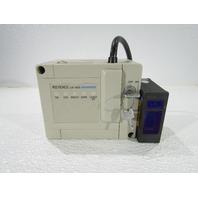 KEYENCE CORP LB-1003 LASER DISPLACEMENT SENSOR AMPLIFIER UNIT W/ LB-043 LASER DISPLACEMENT SENSOR