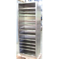 * ATLANTA LABORATORY MEDICAL STAINLESS STEEL CABINET 30W x 84H x 22D""
