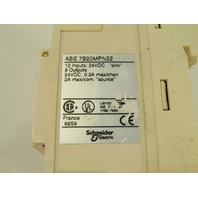 SCHNEIDER ELECTRIC  TELEMECANIQUE ABE7B20MPN22 TELEFAST SUB-BASE FOR TWIDO CPU 12I/8O