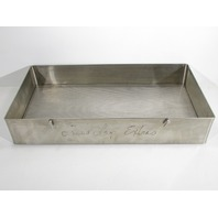 * STAINLESS STEEL SURGICAL INSTRUMENT STERILIZATION TRAY CASE BASE 20 x 10-1/2 x 3-1/2""
