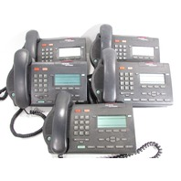 LOT OF (5) NORTEL NETWORKS M3903 CHARCOAL BUSINESS PHONES