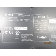 EIKI EIP-2500 DLP PROJECTOR