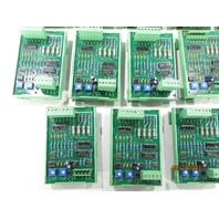 LOT OF (13) PHOENIX CONTACT UMK-SE 11,25-1 w/ P/R INTERFACE CIRCUIT BOARD