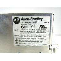 * ALLEN BRADLEY 1606-XL240DR POWER SUPPLY 24V 10A