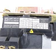 SQUARE D 8536 SDO1 SIZE 2 STARTER W/ TIME DELAY ATTACHMENT