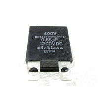 * LOT OF (2) NICHICON EM122R55DOLN1HG 0.55uF 400V 1200VDC CAPACITOR