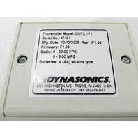 DYNASONICS DUFX1-F1 ULTRASONIC FLOWMETER