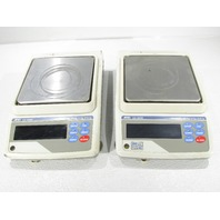 LOT OF 2 A&D GX-6000 BALANCE SCALE MAX 6100g