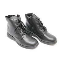 * NEW MORITZ 12 W W 7080 COMFORTRITE BLACK ZIPPER BOOTS