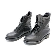 * NEW P. W. MINOR BOSS STEEL TOE BOOTS 1104 SIZE 11 2E BLACK CALFSKIN