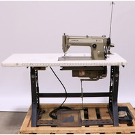 * SINGER 431 D200A 431 D200A INDUSTRIAL SEWING MACHINE W/ TABLE, MOTOR