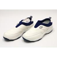 * NEW PROPET W3851 WHITE/NAVY 10 XX (4E) WASH WEAR SLIP ON WOMENS SHOE