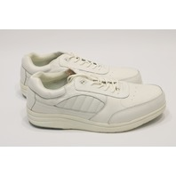* NEW P. W. MINOR PERFORMANCE WALKER M/LACE DX2 SIZE 15 2W WHITE SHOES
