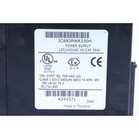 * GE FANUC IC693PWR330H POWER SUPPLY 120/240 VAC HI-CAP 30W