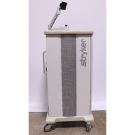* STRYKER ENDOSCOPY 240-099-011 STANDARD WORKSTATION CART W/ ARM