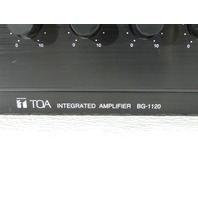 TOA BG1120 INTEGRATED AMPLIFIER