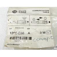 NEW ALLEN BRADLEY 1202-C30A SER A COMMUNICATION CABLE
