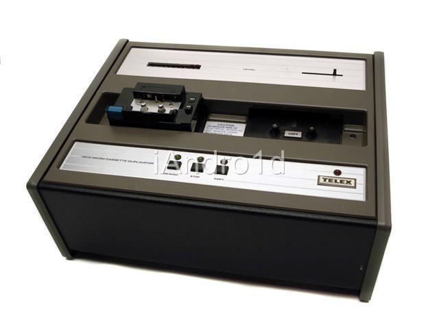 Telex 96712000 Mcd Micro Cassette Duplicator W Dust Cover