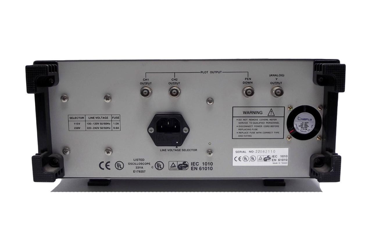 Digital Analog Oscilloscopes : B k bk precision mhz analog msps digital