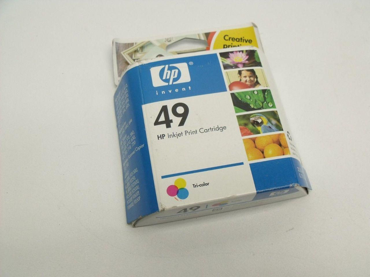 New Genuine HP 49 Tri-Color Inkjet Color Print Cartridge