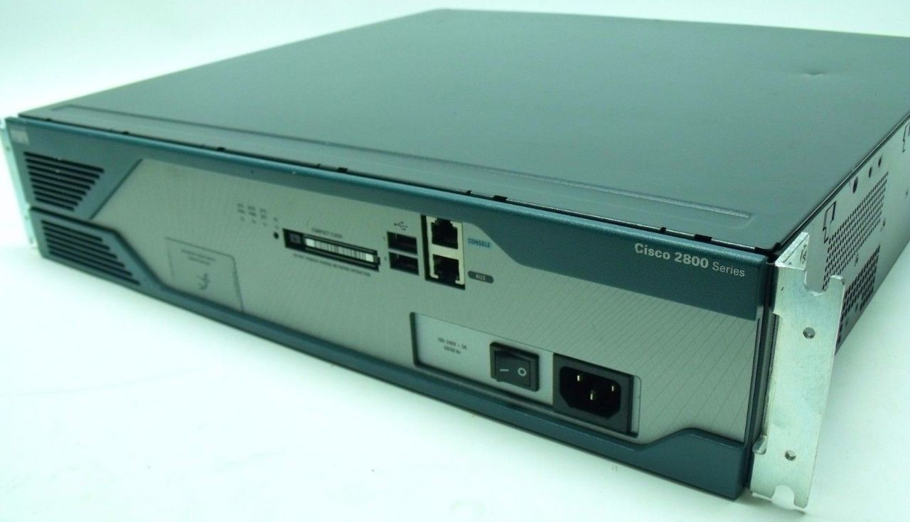 Cisco 2821 Wired Router 2800 Series w/4, 1DSU-T1 Cards V2 & 64MB ...