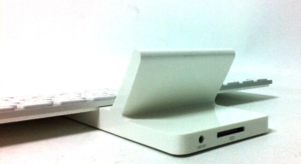 apple docking station. apple keyboard with docking station model a1359 white