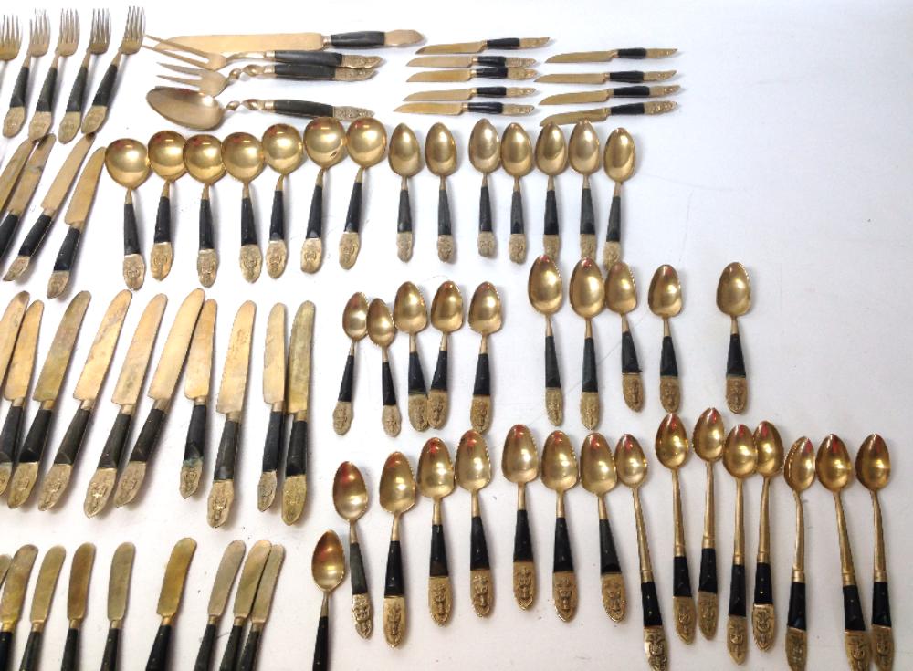 Vintage anant thailand flatware bronze siam hindu indy surplus store - Thailand silverware ...