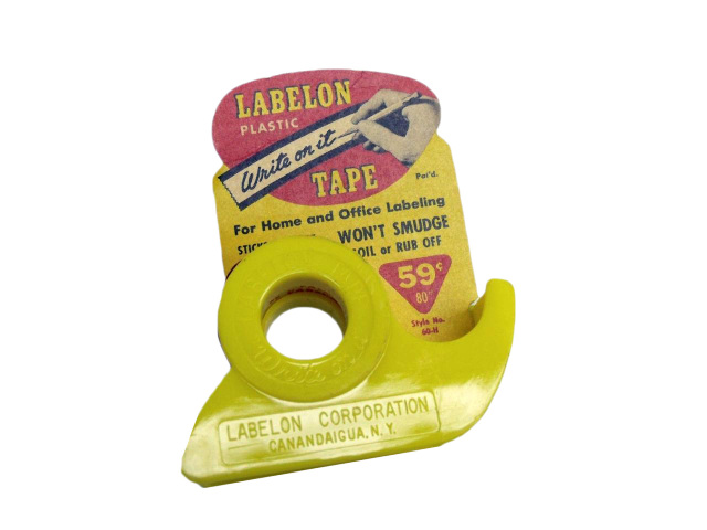 New VINTAGE LABELON Plastic Write on It Tape For Home/Office Labeling