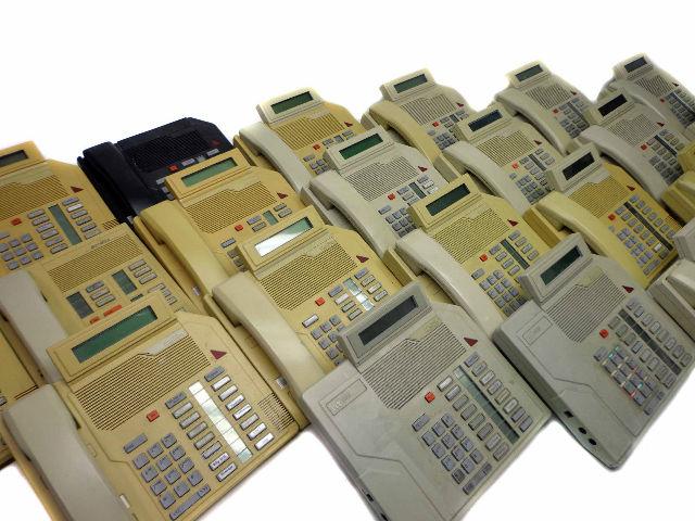 Lot of 20 Nortel Meridian M2616 Business Phones w/ Handsets Parts/Repair