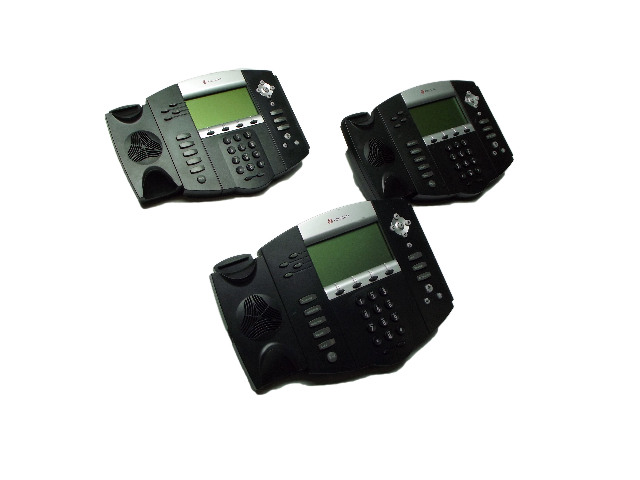 Lot of 3 Polycom SoundPoint IP550 SIP IP Business Phones VOiP