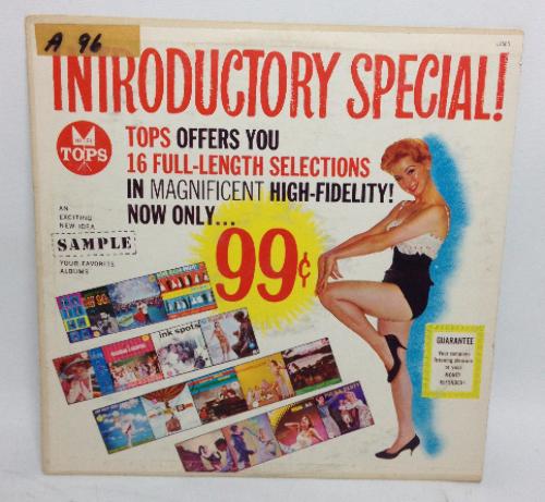 VINTAGE Introductory Special Tops Sampler LP L1666 Vinyl Record