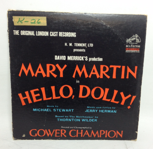 VINTAGE Mary Martin in Hello, Dolly! LP Gower Champion Record Vinyl