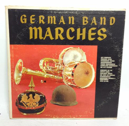 VINTAGE German Band Marches LP P-14300 Heinz Bartels Vinyl Record