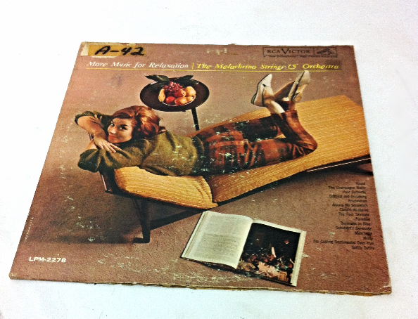 More Music for Relaxation vintage vinyl Record LP Movie Prop
