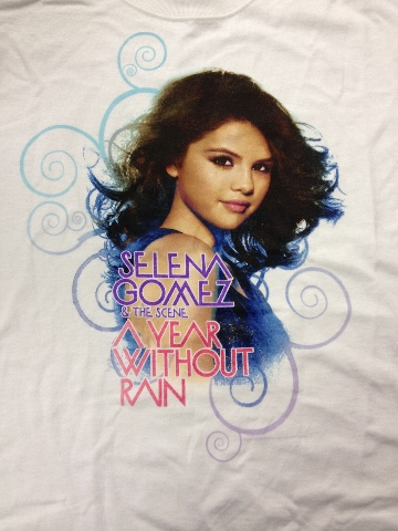 NEW Selena Gomez LARGE FAN T-Shirt A Year Without Rain