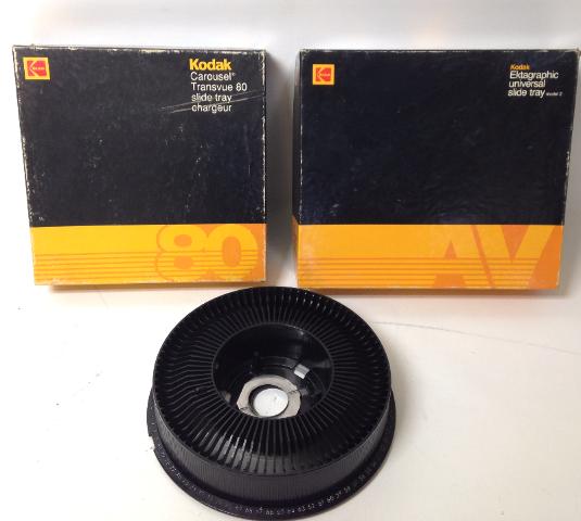 Lot of 3 Kodak Slide Trays