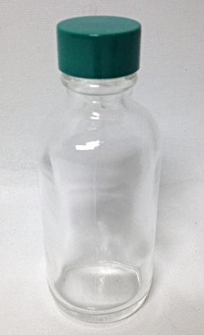 A Lot Of 24 Qorpak 2 oz Flint Glass Bottles w Green Thermo Cap