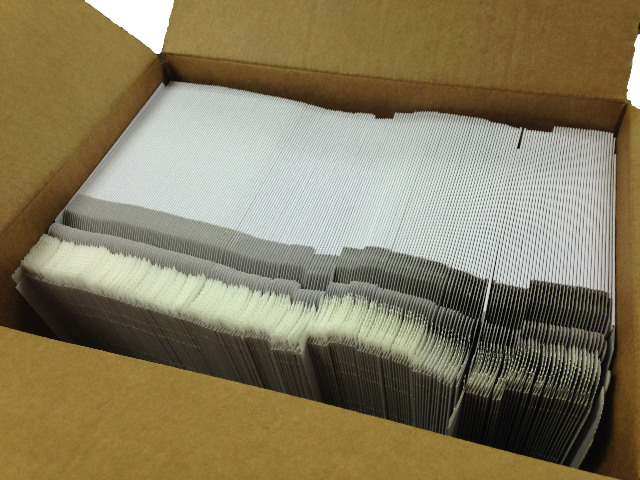 """200 CD/DVD White Cardboard Mailers, Self Seal Mailers with Flap (6"""" x 6 3/8"""")"""