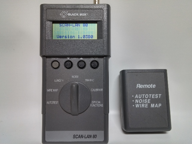 BLACK BOX TS624A SCAN-LAN 80 CABLE SCANNER