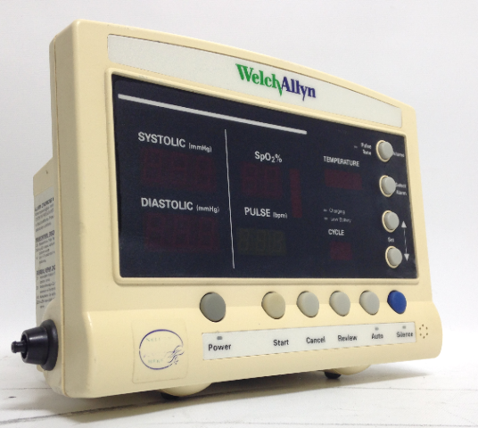 Welch Allyn Series 52000 Patient Vital Signs Monitor Blood Press Pulse Temp SpO2