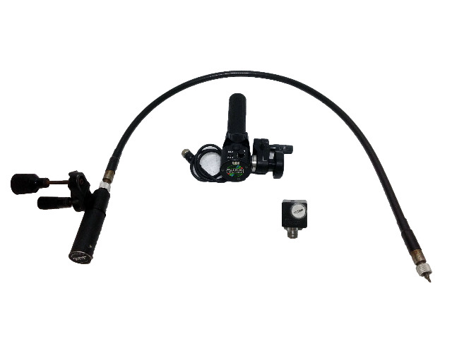 Fujinon SRD-92B Remote Servo Zoom w/CFH-3 Focus Grip w/ Canon FM-1 Focus Outlet  & Flex Cable