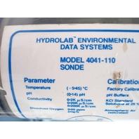 HYDROLAB 4041 DIGITAL Environmental DATA ANALYZER 4041-110 SONDE 4000-320 Assy